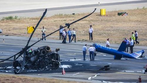 Vụ tai nạn đã khiến hai thành viên tổ lái thiệt mạng trong khi một người khác bị thương nạn
