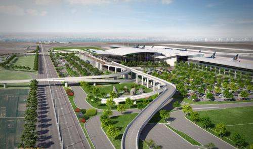 Phối cảnh Cảng hàng không Quốc tế Long Thành. Ảnh: TPO