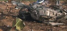 Mảnh vỡ máy bay Air Algerie ngổn ngang tại hiện trường hồi tháng 7/2014.