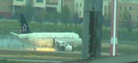 Máy bay Turkish Airlines trượt khỏi đường băng tại sân bay Ataturk.