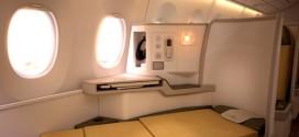 Nội thất hạng thương gia trên máy bay A350 của Vietnam Airlines.