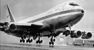 Chuyến bay đầu tiên của Boeing 747 là vào tháng 2/1969.