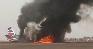 Phi cơ South Supreme Airlines bốc cháy tại sân bay thành phố Wau