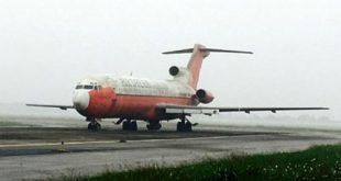"""Chiếc máy bay Boeing 727-200 bị """"bỏ quên"""" tại sân bay Nội Bài."""