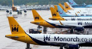 Máy bay của Monarch Airlines, hãng hàng không Anh phá sản mới đây.