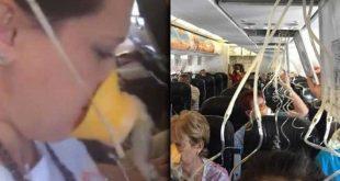 hình ảnh trên chuyến bay hỗn loạn