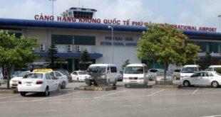 Toàn cảnh bên ngoài Cảng hàng không quốc tế Phú Bài.