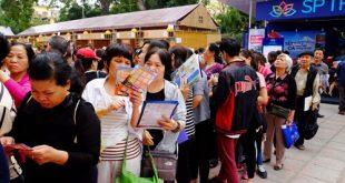 Tại hội chợ du lịch quốc tế tại Hà Nội vừa qua, 30.000 vé máy báy giá rẻ đã được bán ra trong 4 ngày.