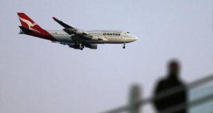 Boeing 747 của Qantas đang hạ cánh
