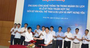 Ký kết hợp tác giữa VNPT Hưng Yên và Sở Văn hóa, Thể thao & Du lịch về phát triển du lịch thông minh