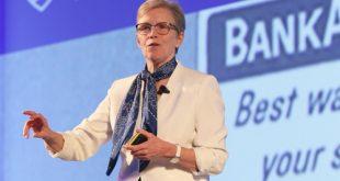 Bà Ellen Richey, Phó chủ tịch, Giám đốc Quản lý rủi ro Visa toàn cầu tại Hội nghị về bảo mật thanh toán thẻ ở Singapore.