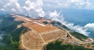 Sân bay Vũ Sơn hiện đang được xây dựng trên đỉnh núi Taohua.