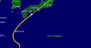 Đường đi của bão Trà Mi theo dự báo ngày 30/9.