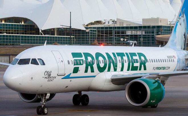 Máy bay của hãng hàng không Frontier Airlines.