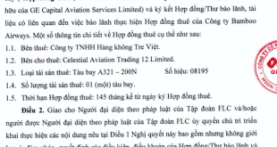 Nội dung Nghị quyết của HĐQT FLC thông qua bảo lãnh cho Công ty TNHH Hàng không Tre Việt thuê máy bay A321 - 200N của Celestial Aviation Trading 12 Limited
