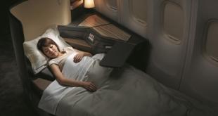 Thiết kế ghế khoang Premium Business có thể chuyển đổi thành giường nằm thẳng.
