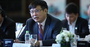 Phó Tổng Giám đốc VietStar Airlines, Lương Hoài Nam phát biểu tại Diễn đàn Cấp cao Du lịch Việt Nam.