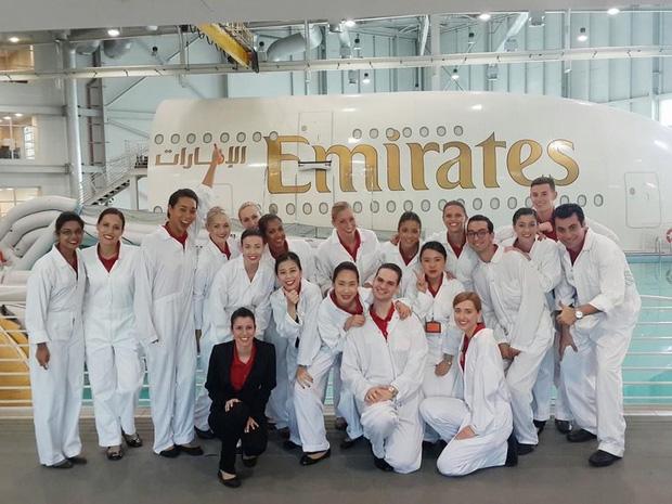 Nghi ở trung tâm huấn luyện của Emirates